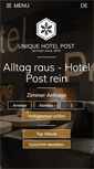 Mobile Preview of hotelpost.ch