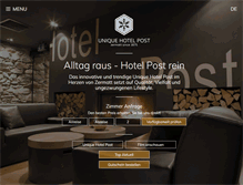 Tablet Preview of hotelpost.ch